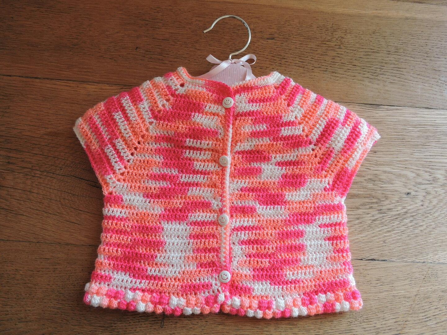 Crochet Child Cardigan Pattern : ?Marguerite? baby cardigan free crochet pattern PROJECT ...