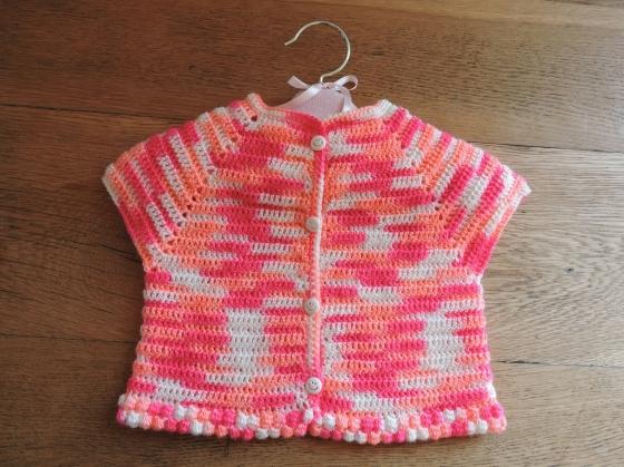 Free Double Crochet Baby Sweater Pattern : ?Marguerite? baby cardigan free crochet pattern PROJECT ...